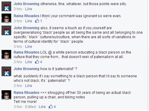 White Supremacy. Because white people are better qualified to discuss the culture/lived experiences of POCs than POCs.